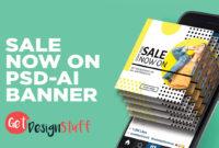 Sale Now On Illustrator Cs6 Psd Banner inside Adobe Photoshop Banner Templates