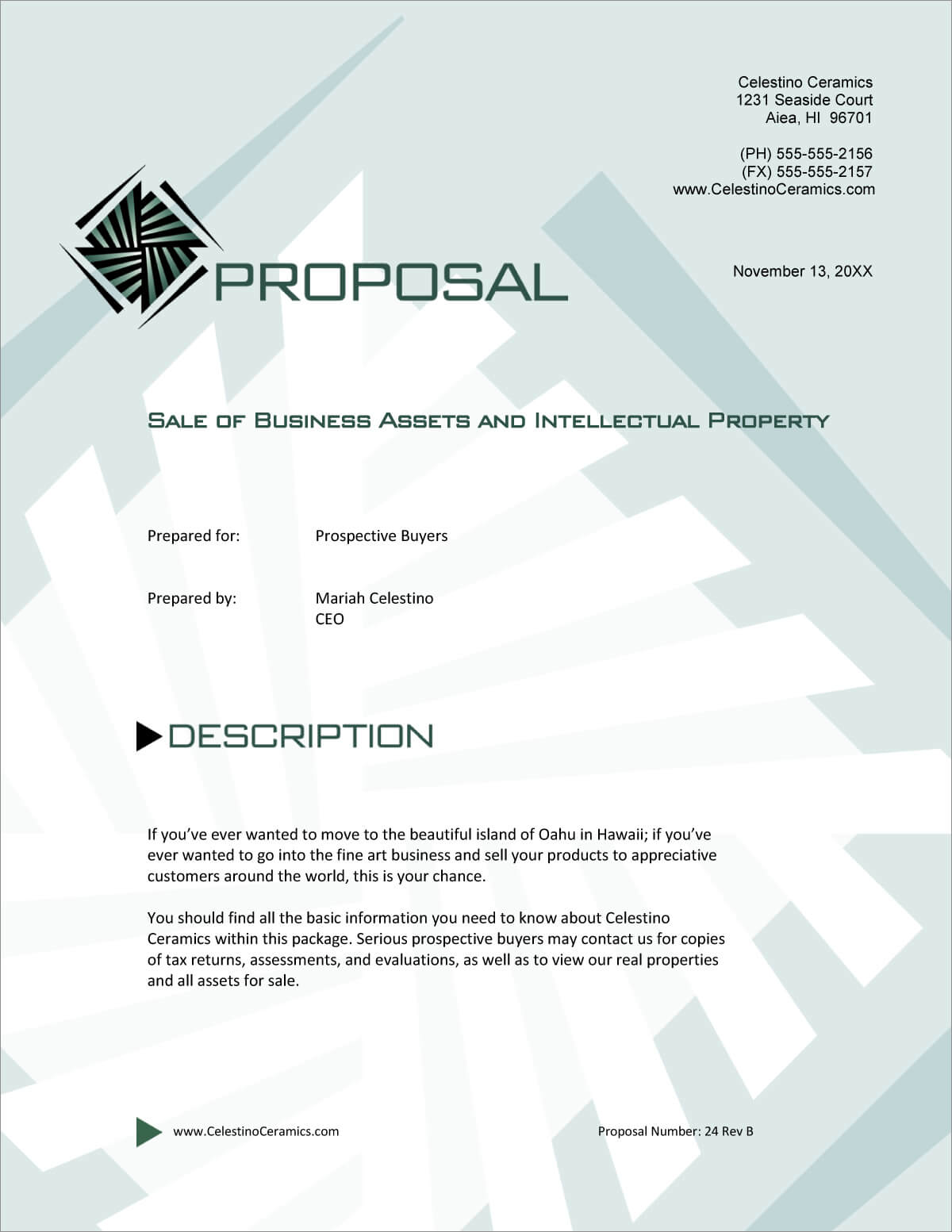 Sale Of Business And Assets Sample Proposal - 5 Steps Within Business Sale Proposal Template