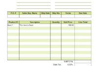 Sales Invoice Template Excel Unique Free Pdf Of Another Word regarding Car Sales Invoice Template Uk