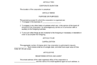 Sample Articles Of Organization | Templates And Samples within Articles Of Organization Template