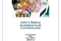 Sample Bakery Business Plan Pages 1 – 29 – Text Version pertaining to Cake Business Plan Template