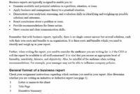 Sample Business Report Template – Colona.rsd7 pertaining to Business Trip Report Template Pdf