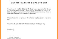 Sample For Certificate Of Employment – Tunu.redmini.co throughout Certificate Of Service Template Free