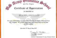 Sample Of Certificate – Colona.rsd7 within Army Certificate Of Achievement Template