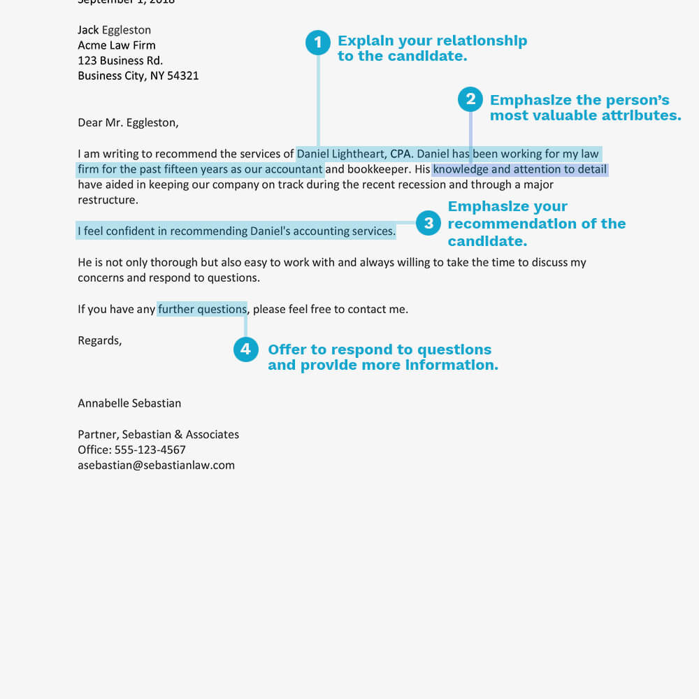 Sample Recommendation Letter For Service Provider For Business Reference Template Word