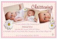 Samples Christening Invitations throughout Baptism Invitation Card Template