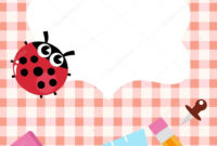 School Blank Banner With Ladybug And Accessories — Stock inside Blank Ladybug Template