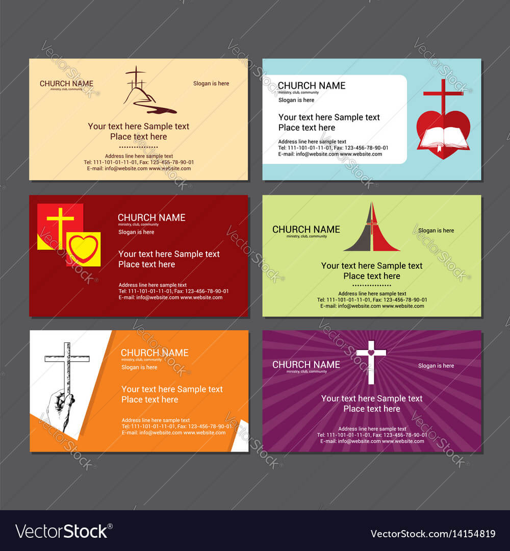 Set Christian Business Cards For The Church For Christian Business Cards Templates Free