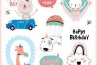 Set Of Birthday Cards Gift Tags Labels for Birthday Labels Template Free