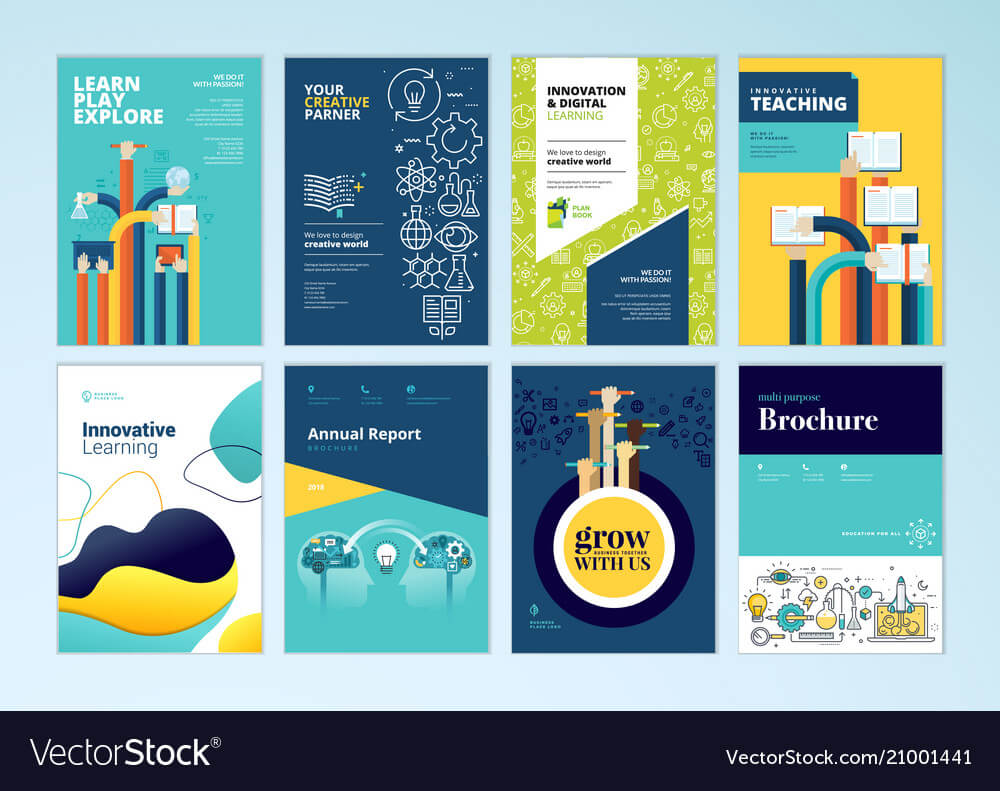 Set Of Brochure Design Templates Of Education Pertaining To Brochure Design Templates For Education