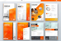 Set Of Business Cover Design Template In Orange Color For Brochure,.. with Business Process Catalogue Template