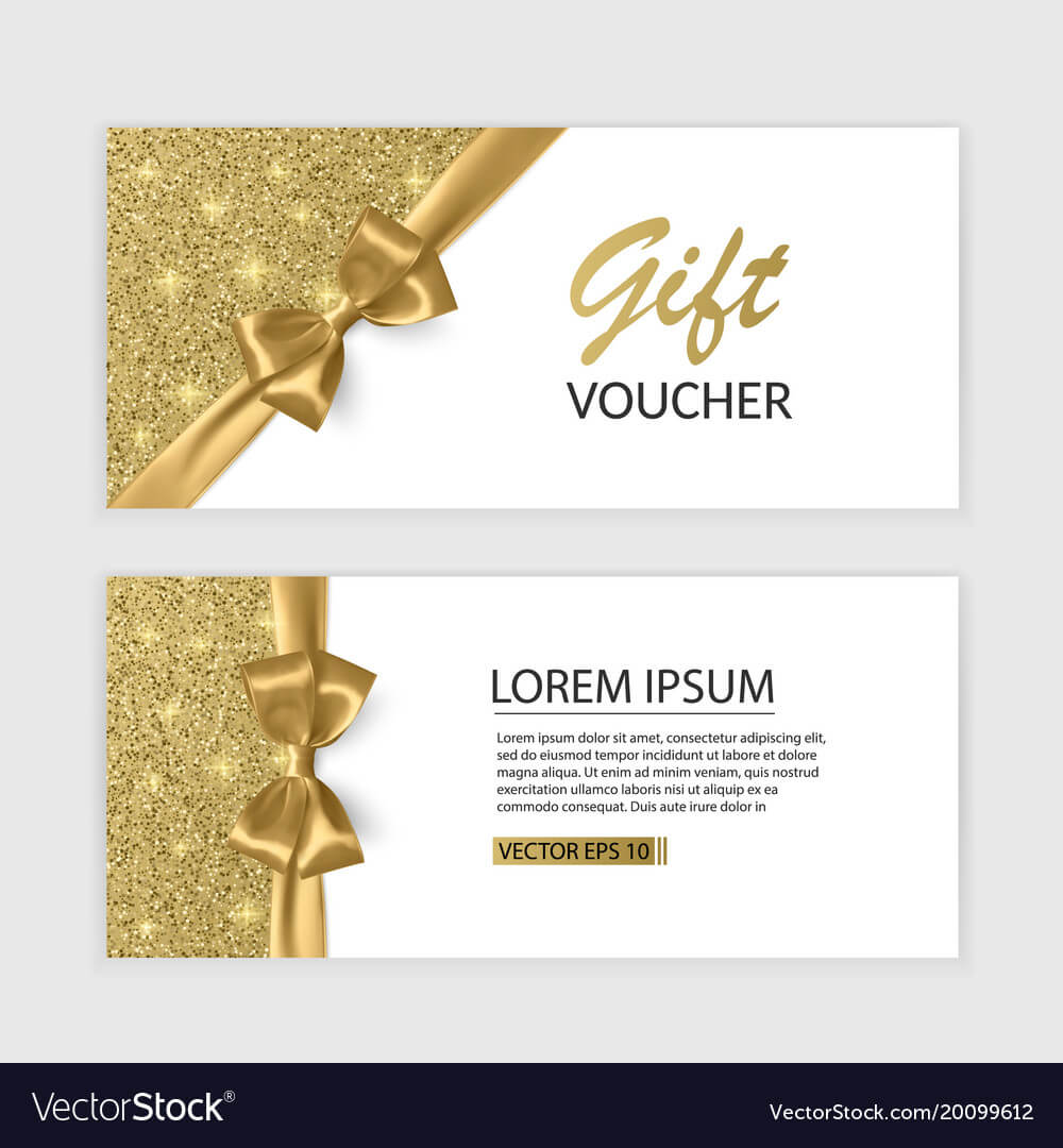Set Of Gift Voucher Card Template Advertising Or Pertaining To Advertising Card Template