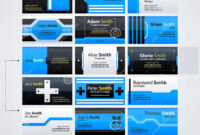 Set Of Modern Business Cards Templates Stock Vector pertaining to Advertising Cards Templates