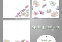 Set Of Templates With Spring Colored Flowers Stock Vector for Butterfly Labels Templates