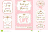 Set Of Vintage Frames. Templates Gift Tags For Royal Party pertaining to Bridal Shower Label Templates