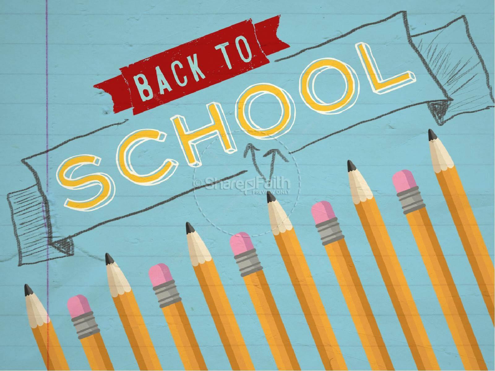 Sharefaith: Church Websites, Church Graphics, Sunday School In Back To School Powerpoint Template