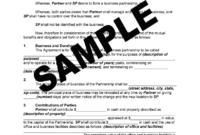 Silent Partner Agreement Pdf – Fill Online, Printable in Business Partnership Agreement Template Pdf