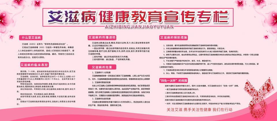 Simple Pink Aids Health Education Bulletin Board Template With Bulletin Board Flyer Template