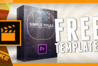 Simple Titles Is Available For Premiere Pro Cs6 | Cinecom intended for Adobe Premiere Title Templates