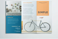 Simple Tri Fold Brochure | Free Indesign Template with 3 Fold Brochure Template Free Download