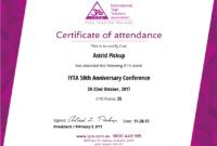 Simplecert Certificates Of Attendance throughout Certificate Of Attendance Conference Template