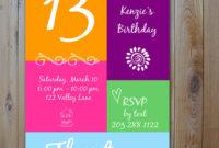 Sleepover 13Th Birthday Party Invitation Templates – Free with regard to 13 Birthday Invitation Templates