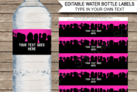 Slime Party Water Bottle Labels Template – Pink throughout Birthday Water Bottle Labels Template Free