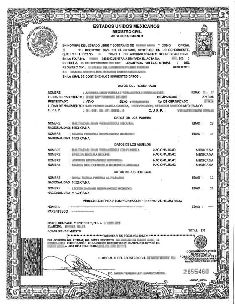 Spanish Birth Certificate Translation | Burg Translations Inside Birth Certificate Translation Template English To Spanish
