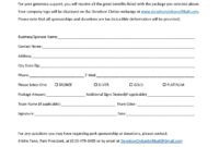 Sponsor Forms Templates Free ] – Template Sponsorship Form for Blank Sponsor Form Template Free