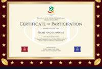 Sport Theme Certification Participation Template with regard to Certification Of Participation Free Template