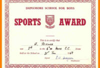 Sports Certificate Model – Colona.rsd7 with regard to Athletic Certificate Template