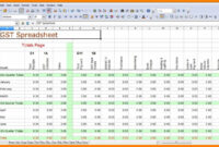Spreadsheets For Small Business Bookkeeping Free Excel regarding Business Accounts Excel Template