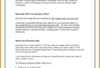 Startup Business Plan Template Pdf Financial Sample Tech for Business Plan For A Startup Business Template