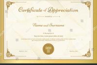 Stock-Vector-Certificate-Of-Appreciation-Template-With regarding Certificate Of Appreciation Template Doc