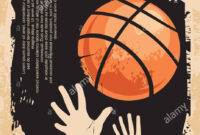 Street Basketball Grunge Poster Design Layout. Street Ball with regard to Basketball Tournament Flyer Template