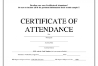 Stupendous Microsoft Word Certificate Template Download in Certificate Of Attendance Conference Template