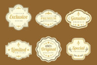 Stylish Vintage Labels Vector Vector Art & Graphics intended for Antique Labels Template