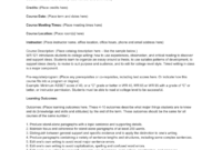 Syllabus Template – Central Oregon Community College pertaining to Blank Syllabus Template