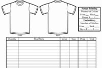 T Shirt Order Form Template Printing Download Free Blank throughout Blank T Shirt Order Form Template