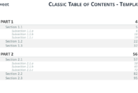 Table Of Content Free Powerpoint Template in Blank Table Of Contents Template