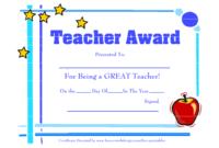 Teacher-Awards-9 New Certificat Templates throughout Best Teacher Certificate Templates Free