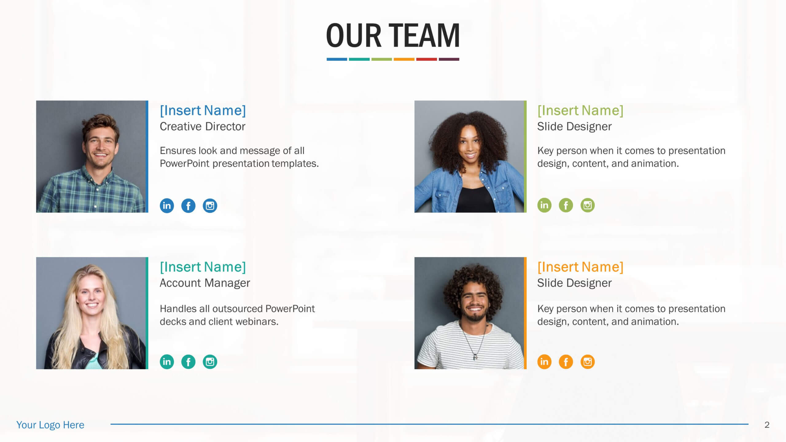 Team Biography Slides For Powerpoint Presentation Templates Throughout Biography Powerpoint Template
