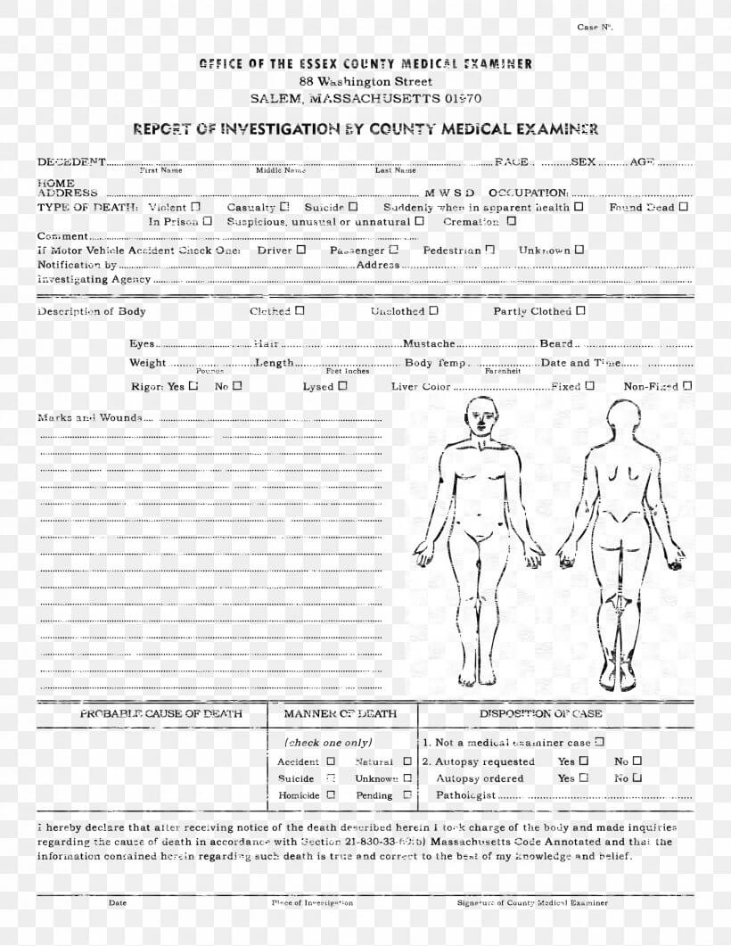 Template Autopsy Microsoft Word Report Résumé, Png Pertaining To Autopsy Report Template