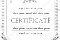 Template Certificate License Vintage Classicstyle Vector within Certificate Of License Template