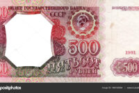Template Frame Design Banknote 500 Rubles — Stock Photo with regard to Bank Note Template