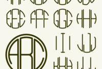 Template Letters To Create Monogram with regard to 3 Letter Monogram Template