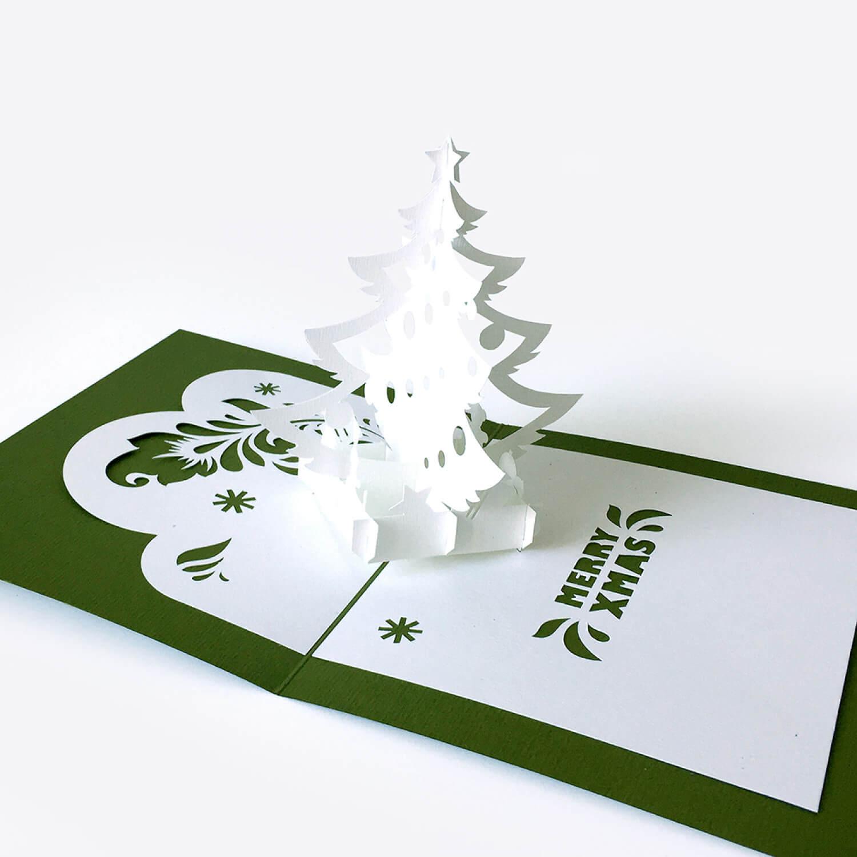 Template Pop Up Card «Christmas Tree» Pertaining To 3D Christmas Tree Card Template
