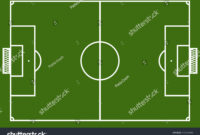 Template Realistic Football Field Lines Gates Stock Vector pertaining to Blank Football Field Template