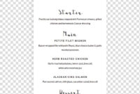 Template Wedding Invitation Baby Shower Bridal Shower intended for Baby Shower Menu Template