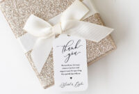 Thank You Wedding Tag, Favor Tag Template, Bridal Shower pertaining to Bridal Shower Label Templates